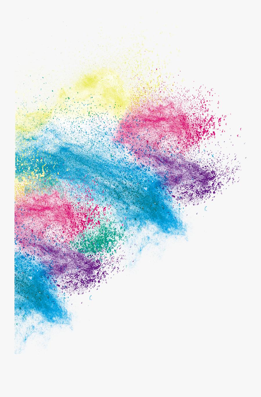 Art Inkjet Color Effect Creative Printing Dust Clipart - Picsart Holi Color Png, Transparent Clipart