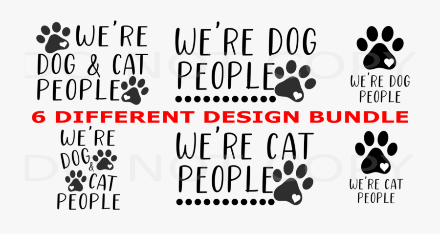 """We""""re Dog And Cat People Clipart Png - Dog Licks, Transparent Clipart"""