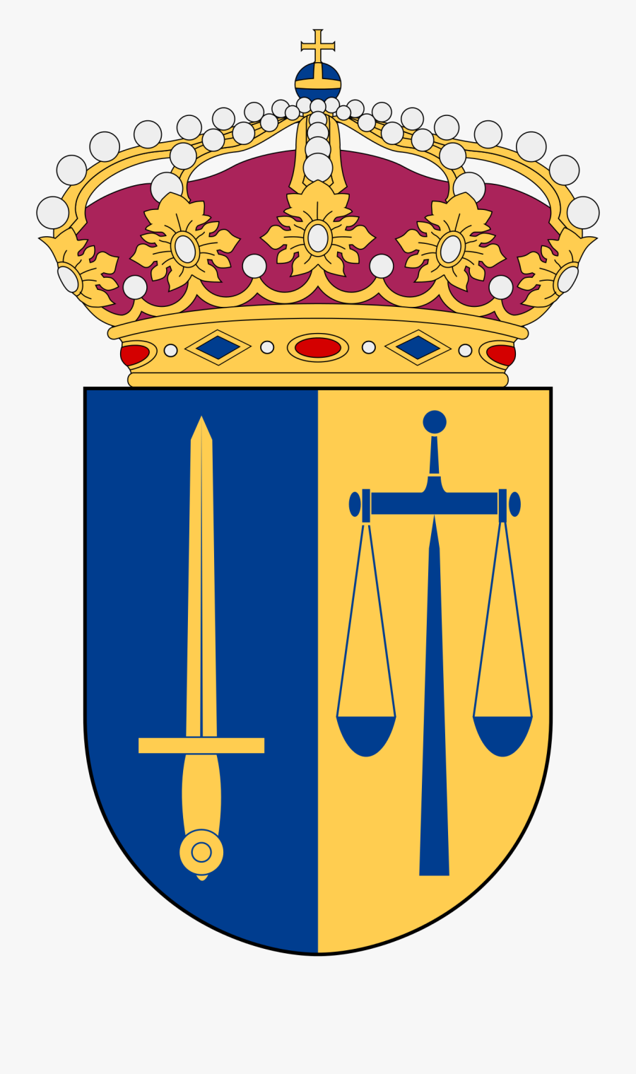 Scales Of Justice In Heraldry - National Defence Radio Establishment, Transparent Clipart