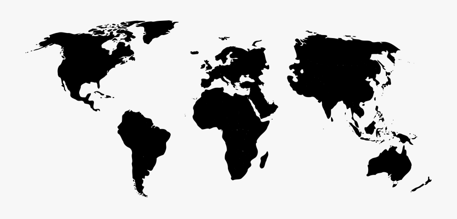 Clip Art Free Download Trade Clipart World Trade - Black World Map Png, Transparent Clipart