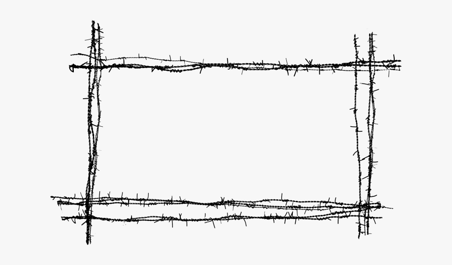 Barb Wire Frame Png - Barbed Wire Fence Png, Transparent Clipart