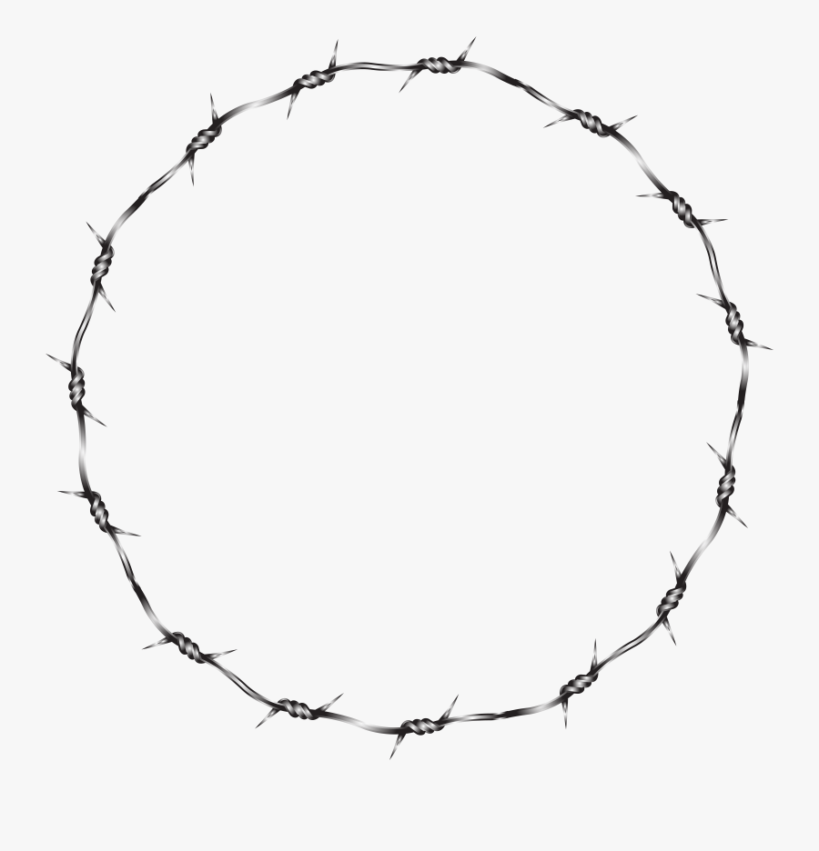 Barbed Wire Circle Png, Transparent Clipart