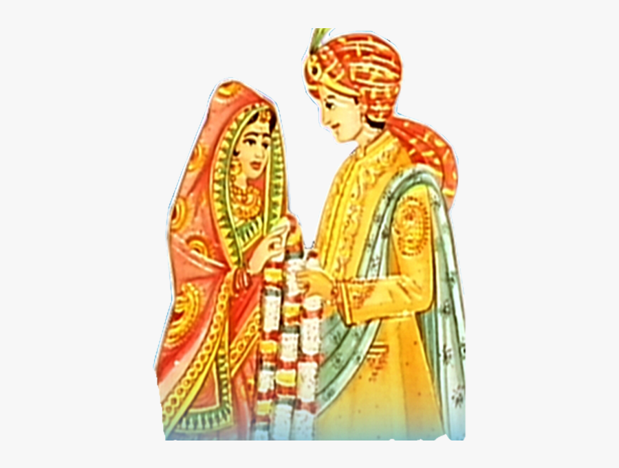 19 Indian Couple Vector Black And White Stock Huge - Indian Wedding Couple Clipart Png, Transparent Clipart