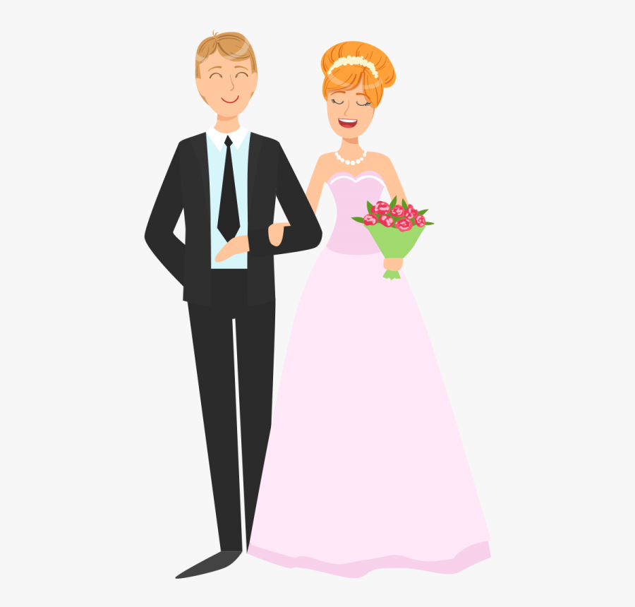 Wedding Couple Png Vector Image Transparent Background - Cartoon Wedding Couple Png, Transparent Clipart
