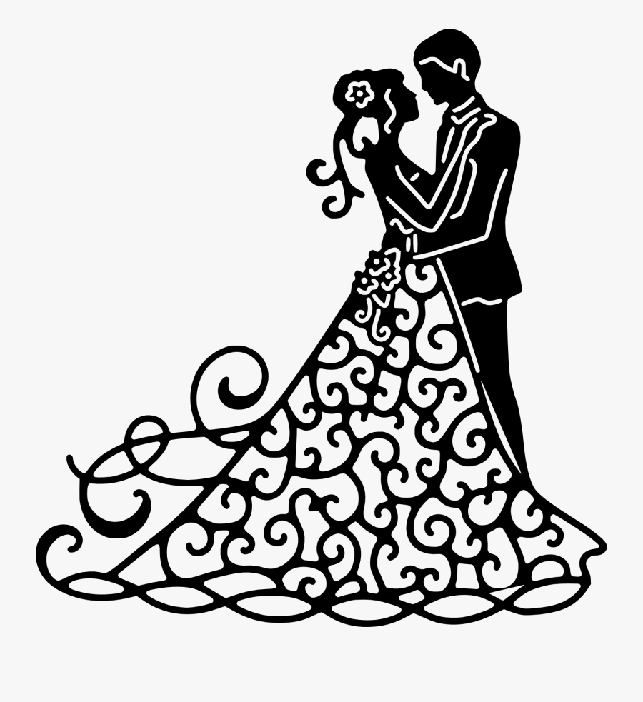 Misc, Personal Use, 50, - Bride And Groom Svg Free, Transparent Clipart