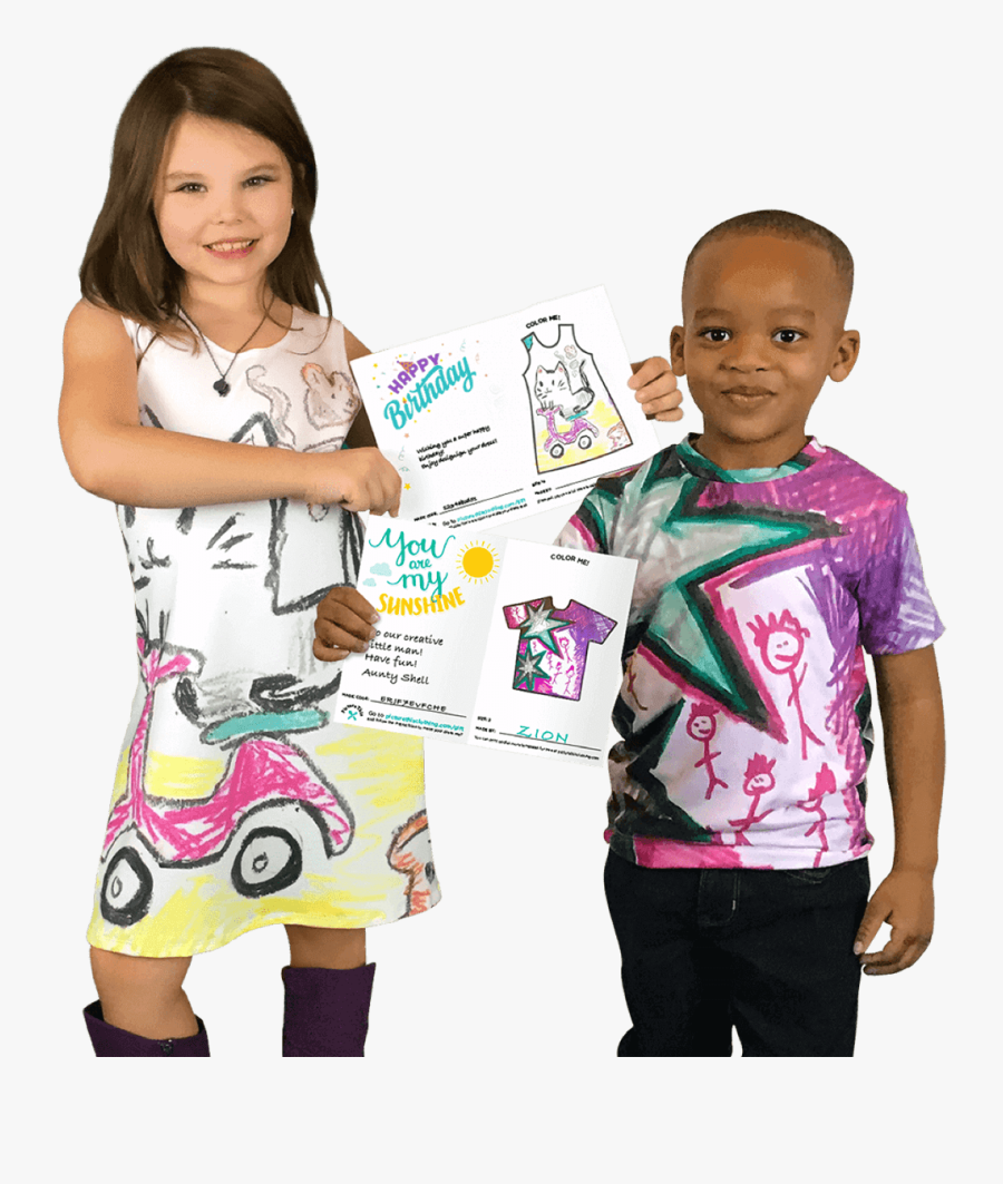 Turn Kids Drawings Into A T Shirt, Transparent Clipart