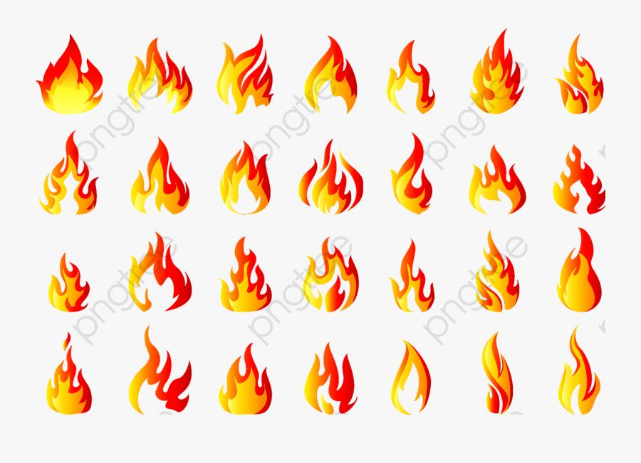 Transparent Realistic Fire Flames Clipart Png - Yama De Fuego Vector, Transparent Clipart
