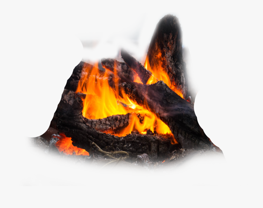 Transparent Realistic Fire Flames Clipart - Charcoal Bonfire Png, Transparent Clipart