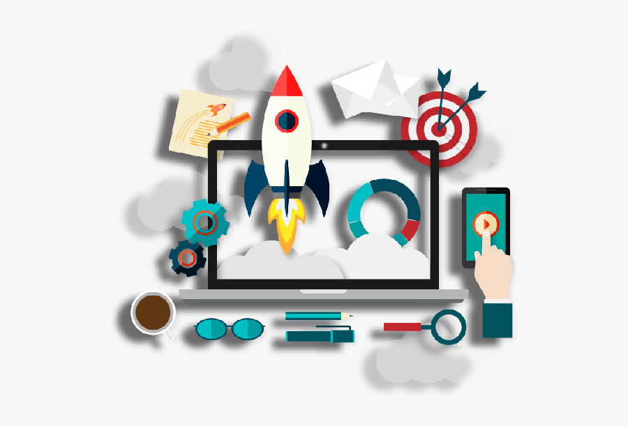 Icreate-media Is A Pioneer In Web Based Design & Digital - Digital Marketing Vector Png, Transparent Clipart