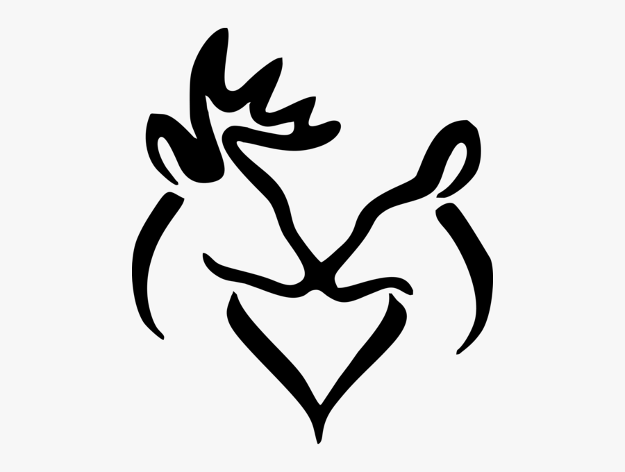 Buck And Doe Heart Clipart - Buck And Doe Silhouette, Transparent Clipart