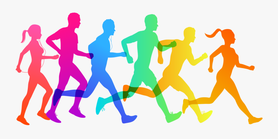 Clip Art Cross Country Running Vector Graphics 5k Run - Cross Country Running Vector, Transparent Clipart
