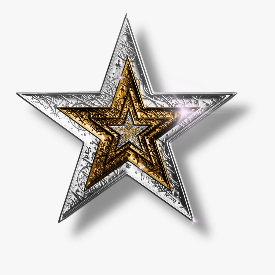 Star Clipart - Silver And Gold Stars, Transparent Clipart