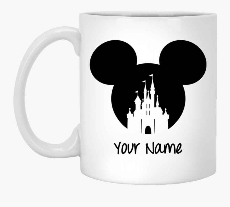 Hd Personalize Your Name Mickey Mouse Hat Mug Gift - Mickey Ears With Castle, Transparent Clipart