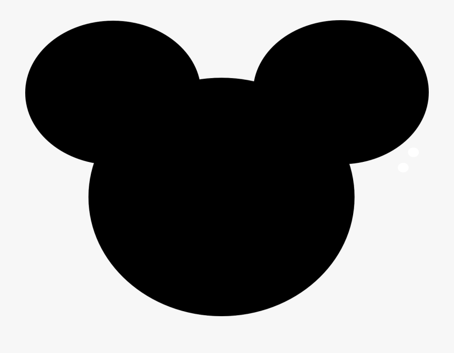 Mickey, Mouse, Disney, Ears, Icon, Walt Disney World - Silhouette Mickey Mouse Clipart, Transparent Clipart