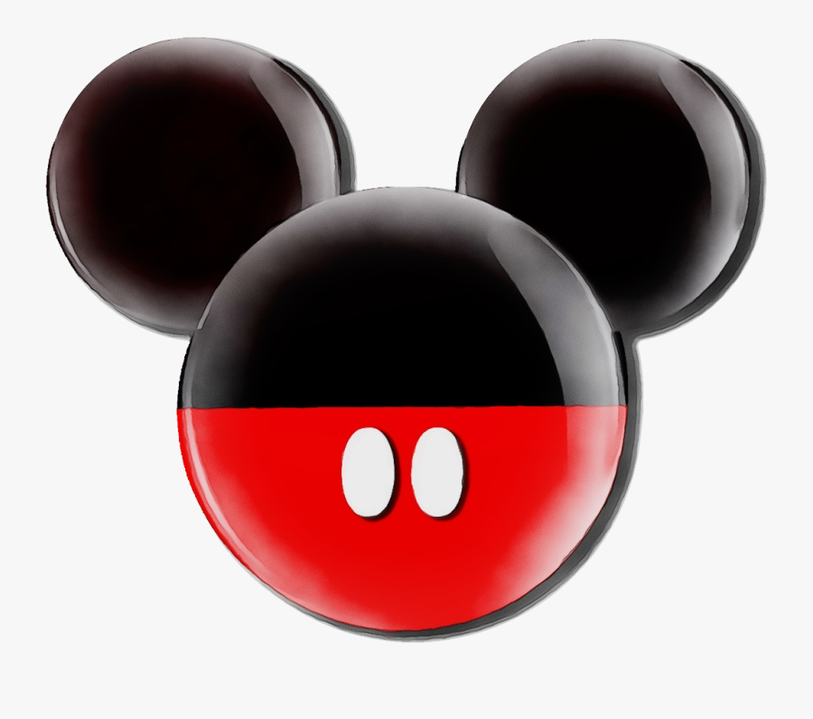 Mickey Mouse Ears Clip Art Minnie Mouse Mickey Mouse - Mickey Mouse Black And Red, Transparent Clipart