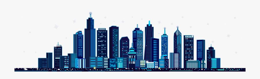 Mid Autumn Festival Illustration - City Building Vector Png, Transparent Clipart