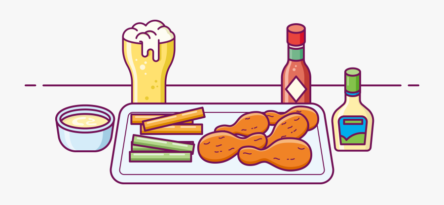 Fried Chicken Buffalo Wing Beer Fast Food - Fried Chicken, Transparent Clipart