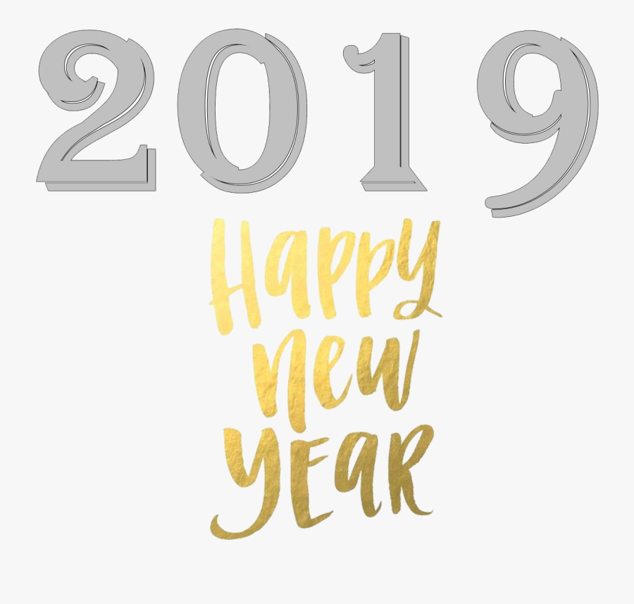 2019 Happy New Year Png Free Images - 2019 Happy New Year Png, Transparent Clipart