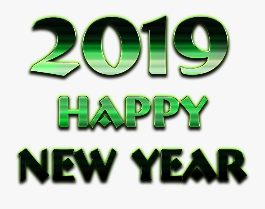 2019 Happy New Year Png Picture - Graphic Design, Transparent Clipart