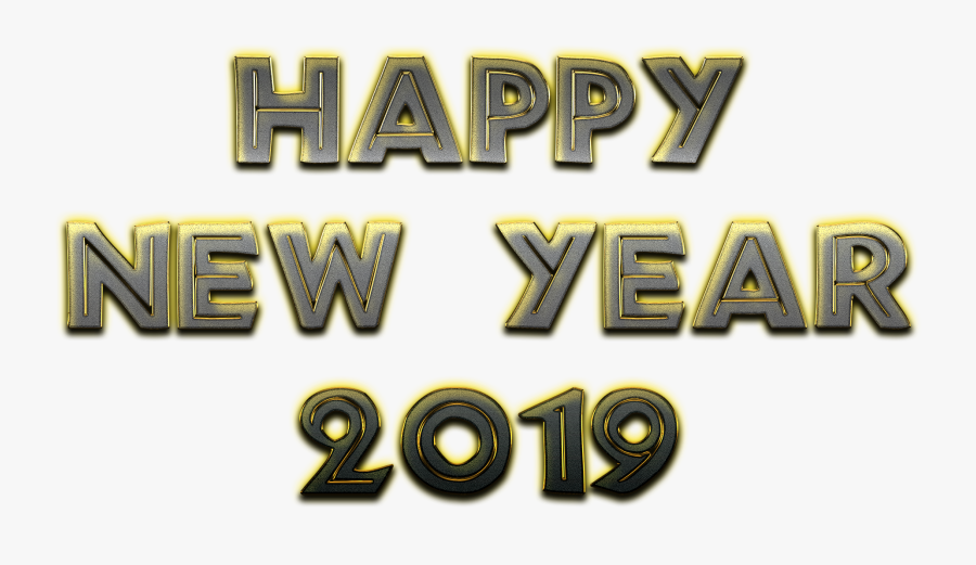 Happy New Year Png 2019 Transparent Background - Happy New Year 2019 Transparent, Transparent Clipart