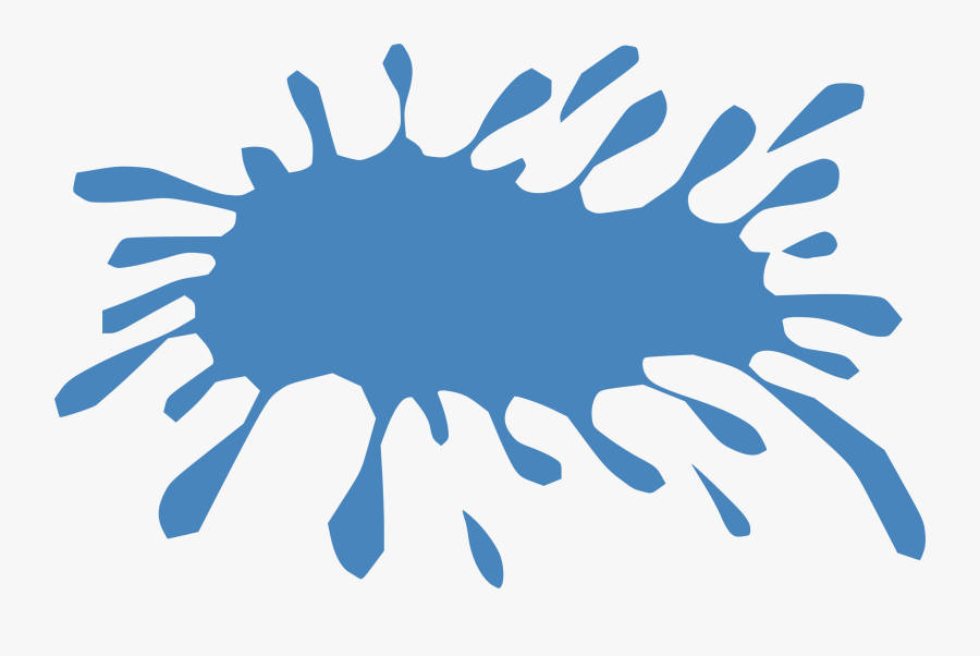 Transparent Water Droplet Clipart - Cartoon Transparent Background Water Splash, Transparent Clipart