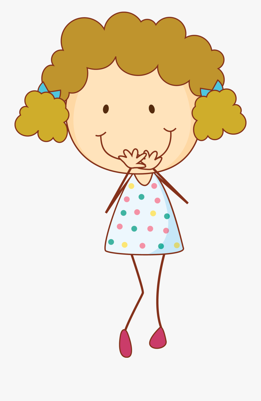 Girl Laughing Cartoon Png , Free Transparent Clipart