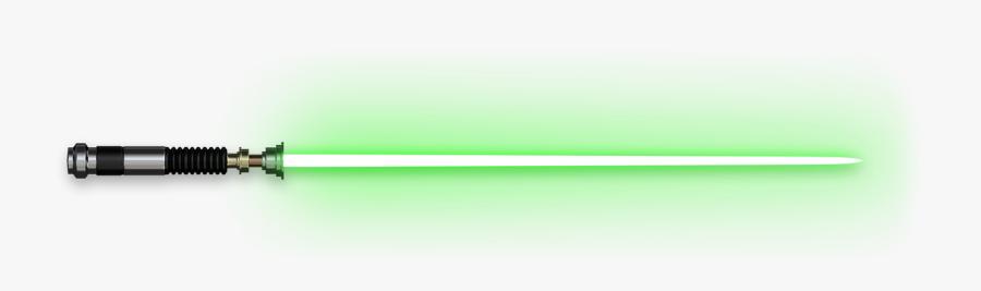Transparent Light Saber Clipart - Star Wars Green Lightsaber Png, Transparent Clipart