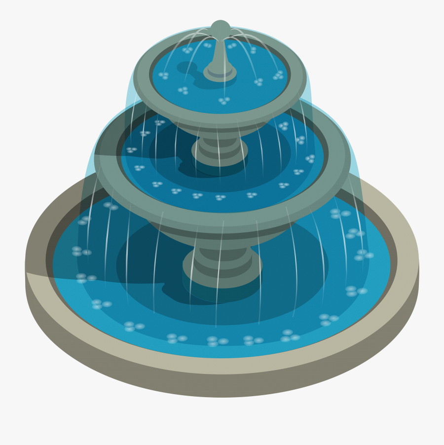Round Water Fountain Png Clipart - Fountain Clipart Png, Transparent Clipart