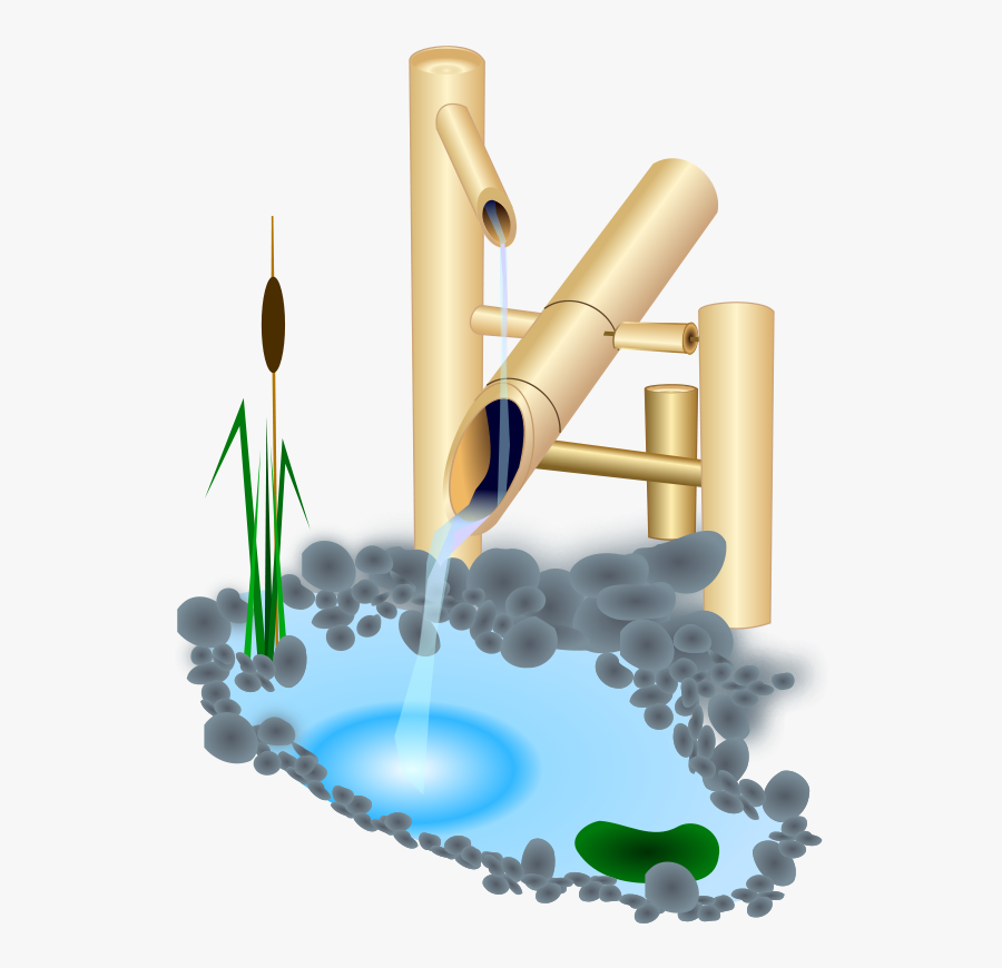 Fountain From Japan - Japanese Water Fountain Png, Transparent Clipart