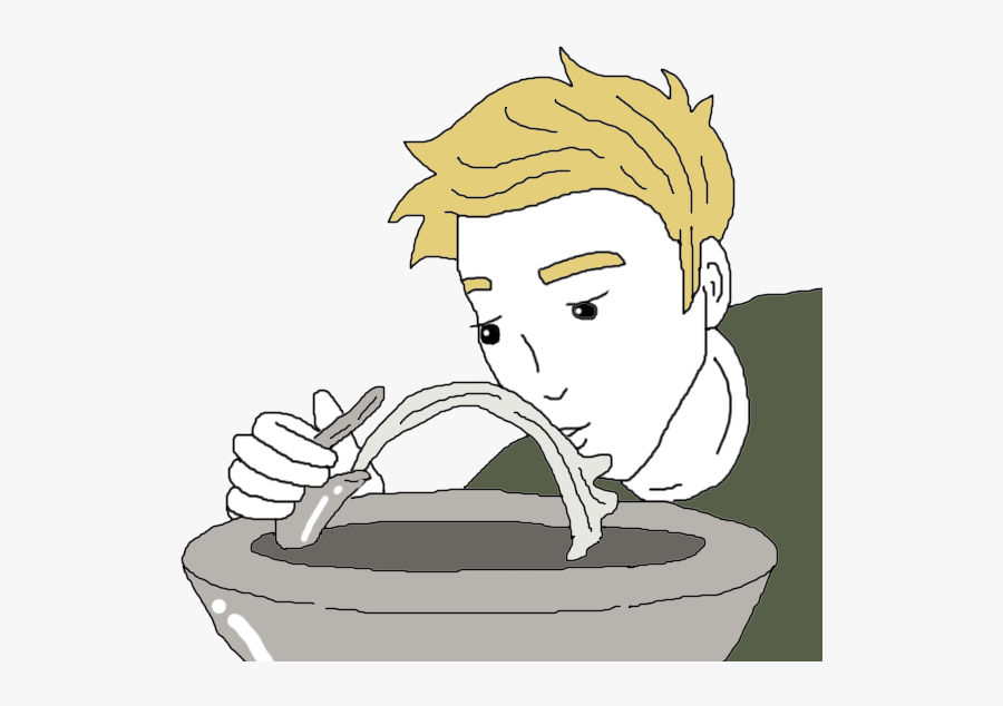Transparent Watering Can Pouring Water Clipart - Boy At Drinking Fountain Clipart, Transparent Clipart