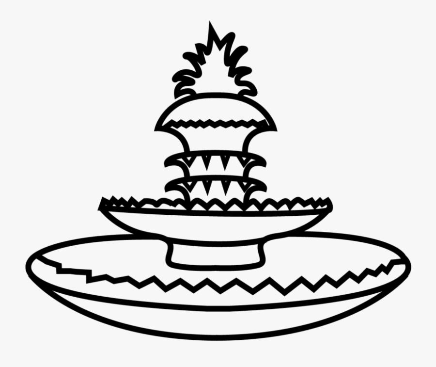 Charleston Pinapple Fountain Clip Art, Transparent Clipart