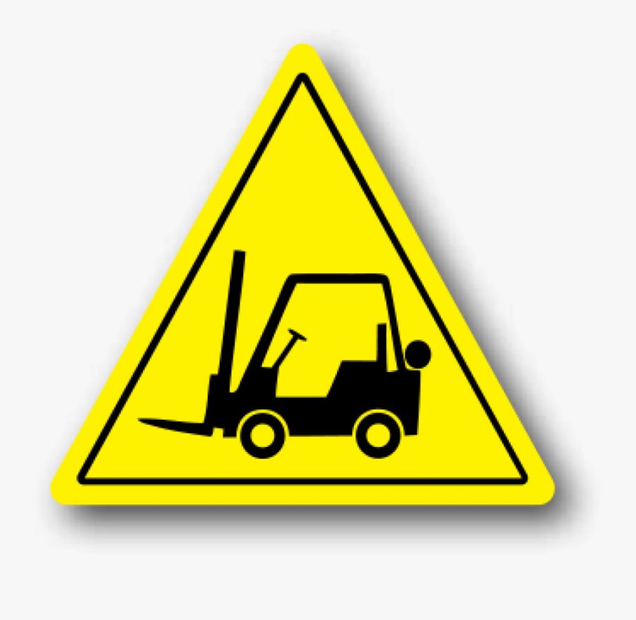 Durastripe Forklift Floor Safety Sign, Yellow Triangle - Yellow Warning Signs Forklift, Transparent Clipart