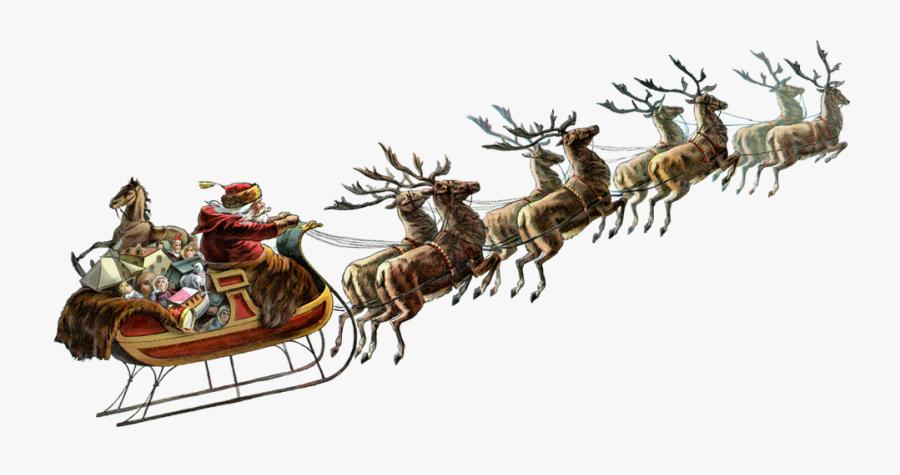 Santa Sleigh Png - Santa Claus Sleigh Png, Transparent Clipart