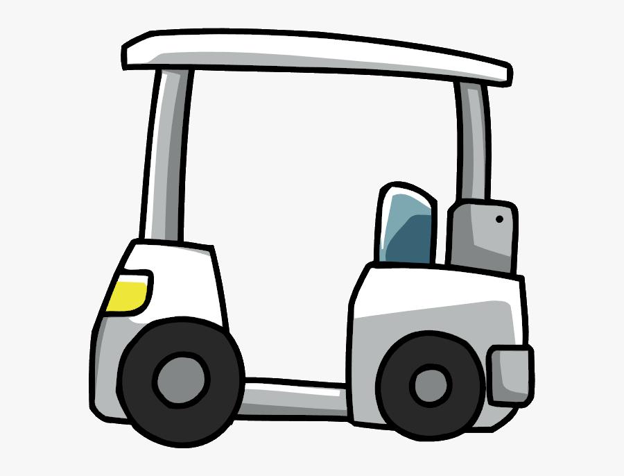 Golfing Clipart Golf Cart - Scribblenauts Golf Cart, Transparent Clipart