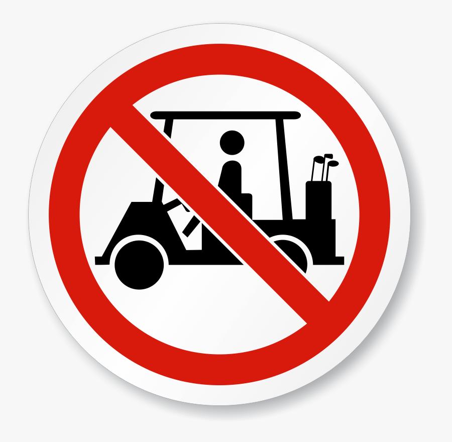 Golf Cart Image Free - Golf Cart Crossing Sign, Transparent Clipart