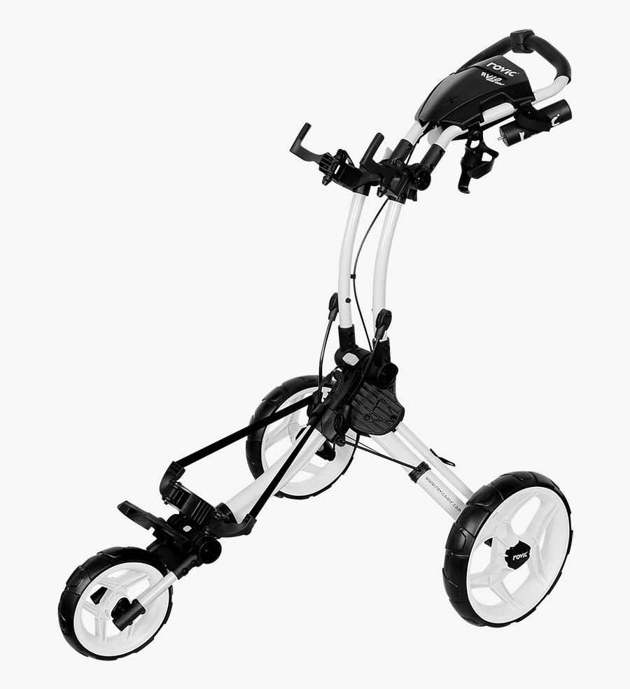 Transparent Golf Carts Clipart - Rovic Rv1d Disc Golf Cart, Transparent Clipart