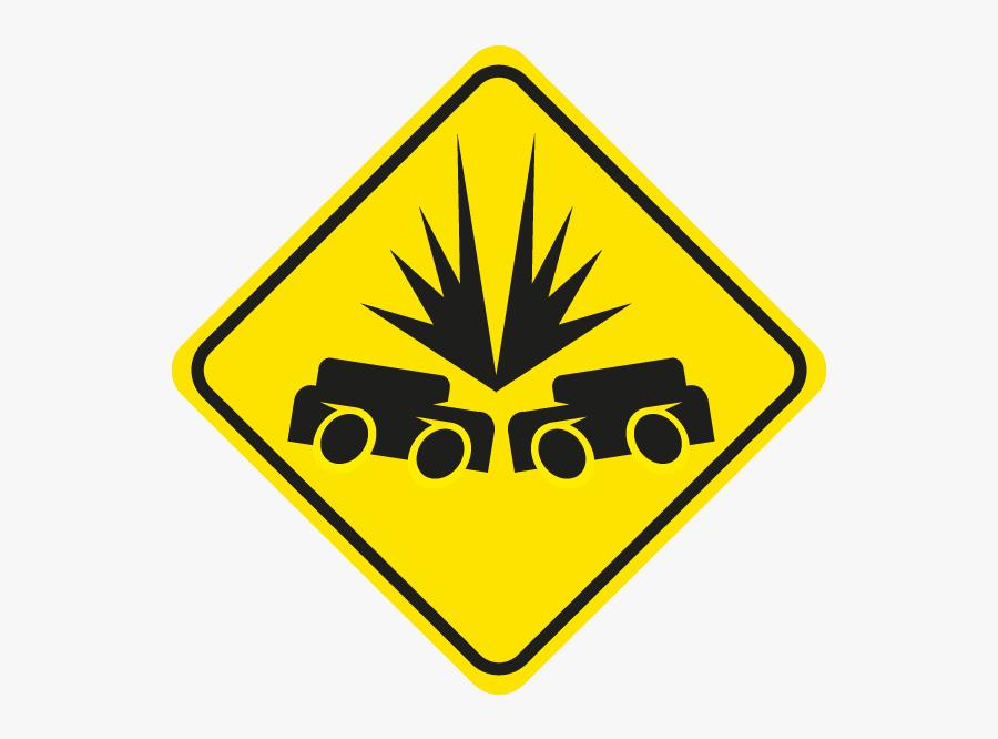 Golf Cart Crossing Sign Clipart , Png Download - Golf Cart Road Sign, Transparent Clipart