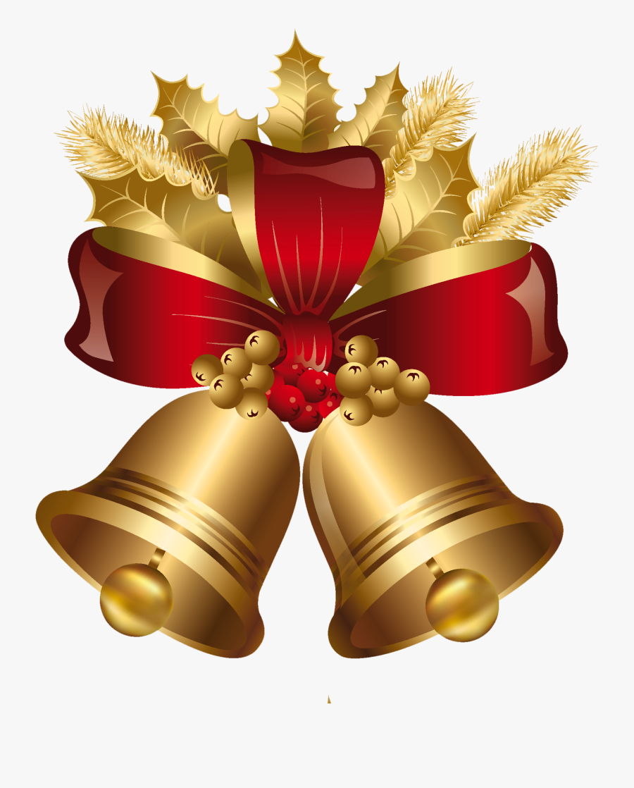 Christmas Png Jpg Free Library - Transparent Background Christmas Bells Clipart, Transparent Clipart