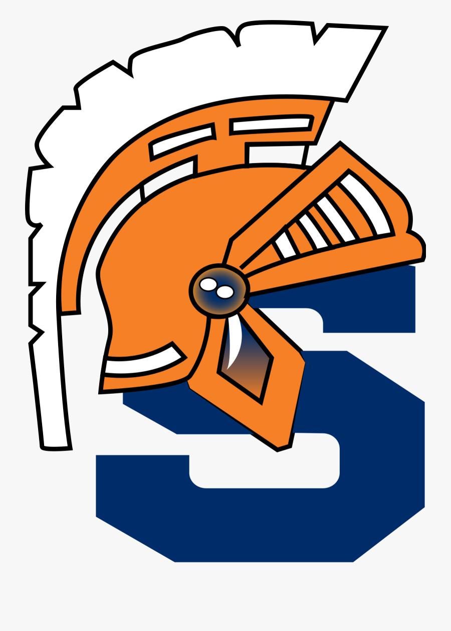 White High School Football Player - West Springfield High School Logo, Transparent Clipart