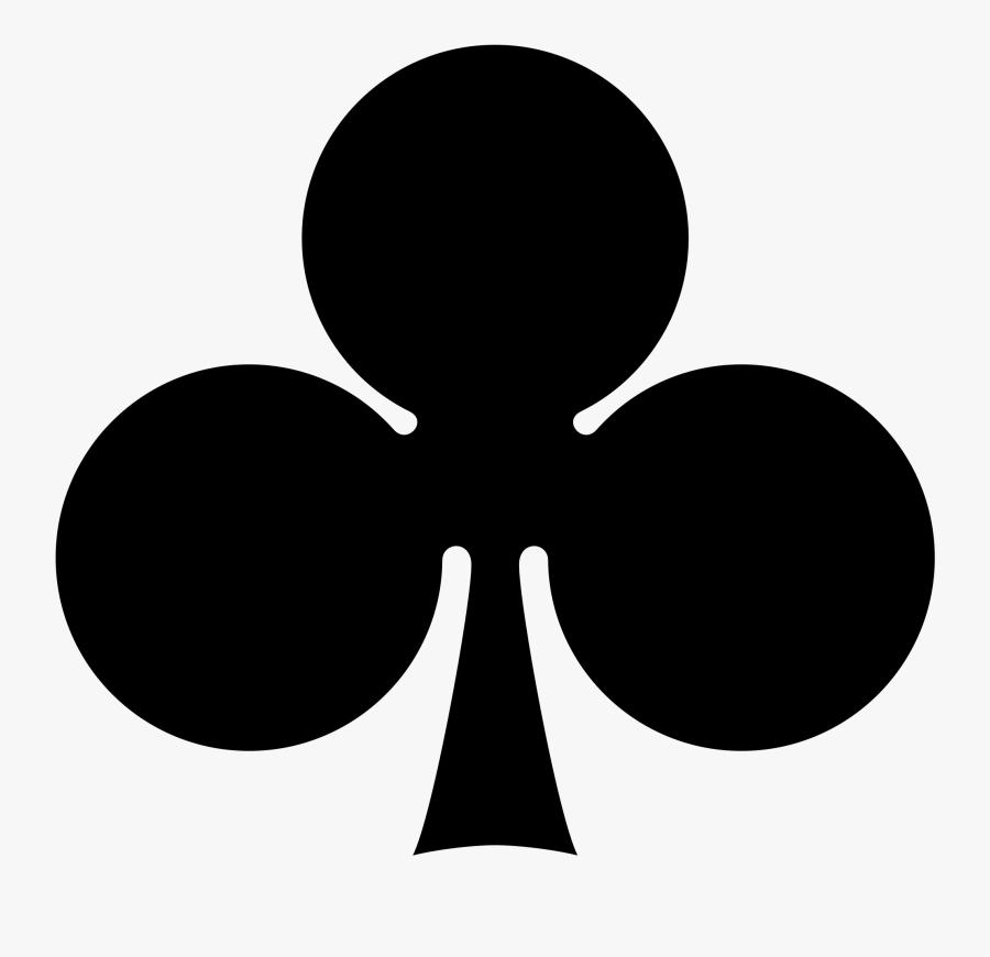 Club Clipart Card Symbol - Card Suits Clubs, Transparent Clipart