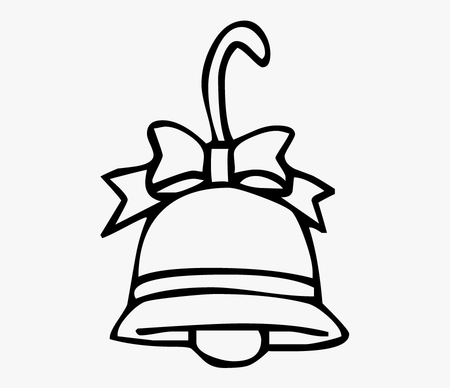 Christmas Bell - Bell Coloring Page, Transparent Clipart