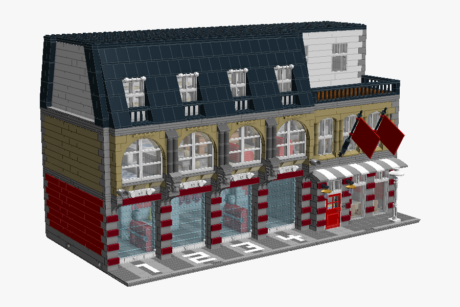 Lego Modular Fire Station Building, Transparent Clipart