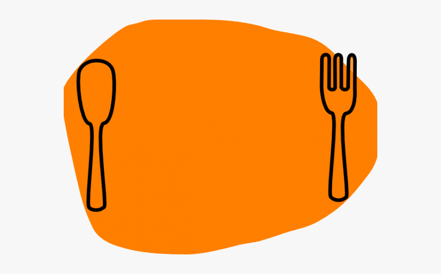 Diner Clipart Cartoon - Knife And Fork And Plate Clipart, Transparent Clipart