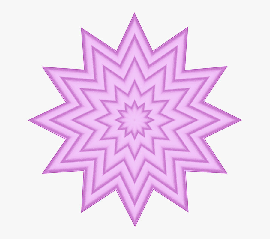 Pink Clipart With Star Pattern - Flashing Shut Up Gif, Transparent Clipart