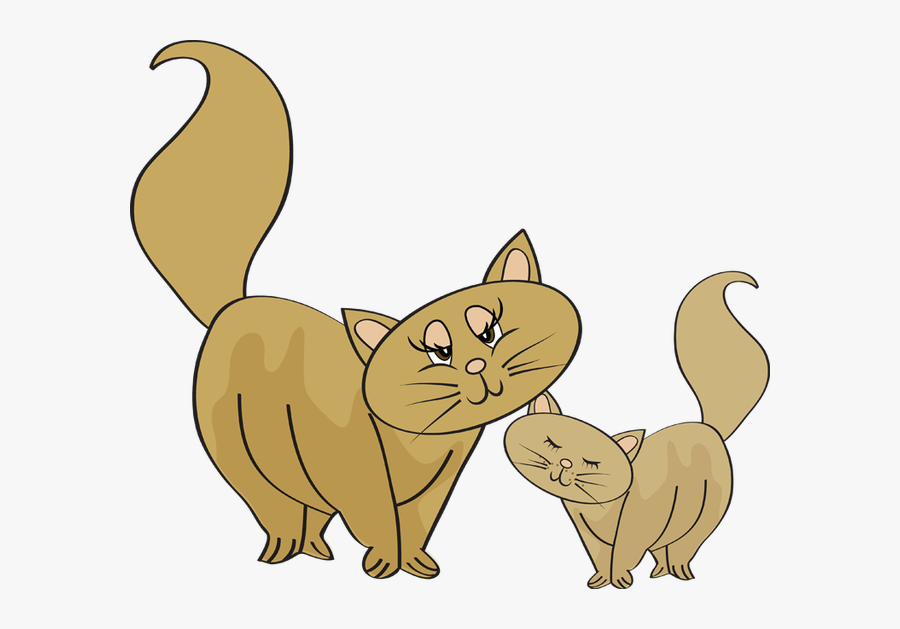 Baby Animal Clipart Baby Cat - Cat And Baby Cat Clipart, Transparent Clipart