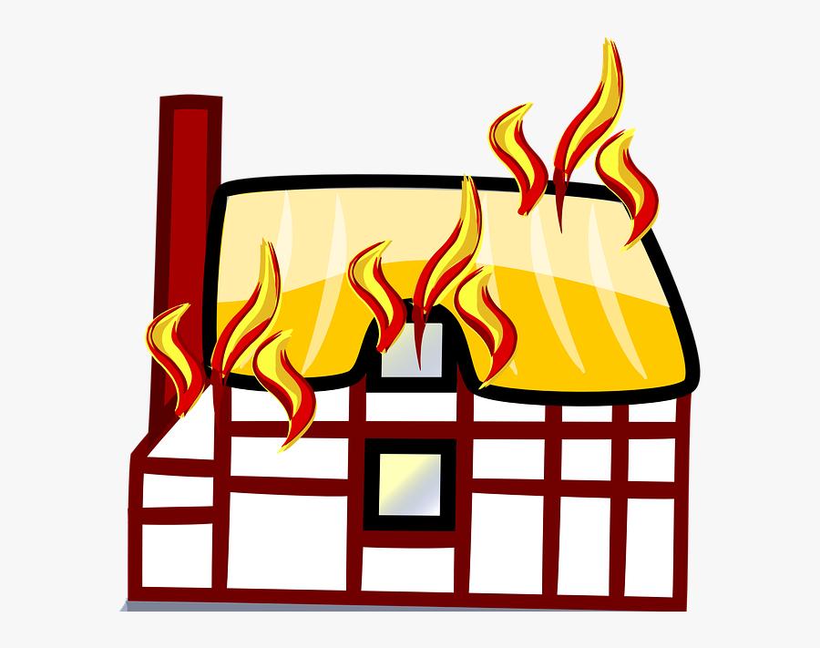 Burning House Cartoon Png, Transparent Clipart