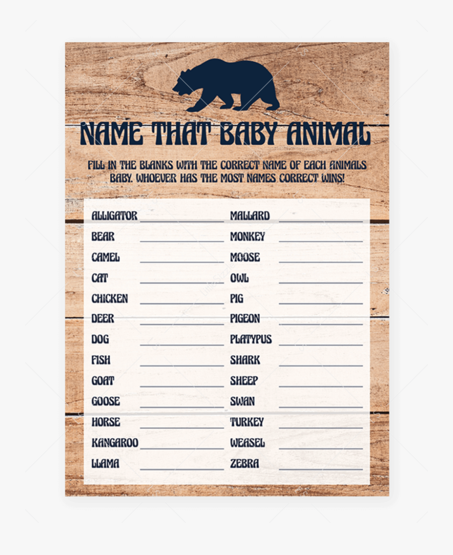 Transparent Animal Shelter Clipart - Guess Who Mommy Or Daddy Baby Shower Game Printable, Transparent Clipart