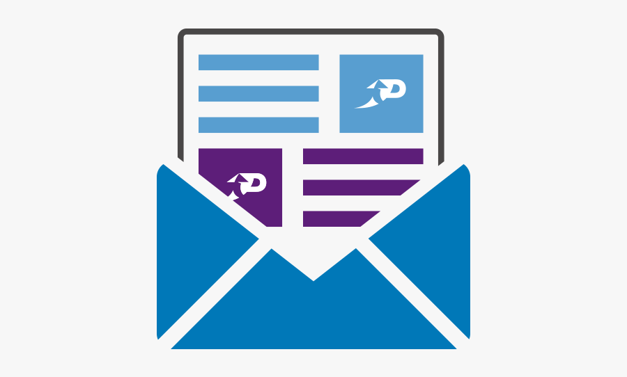 Free Newsletter Png - Vector Emails Icon Png, Transparent Clipart