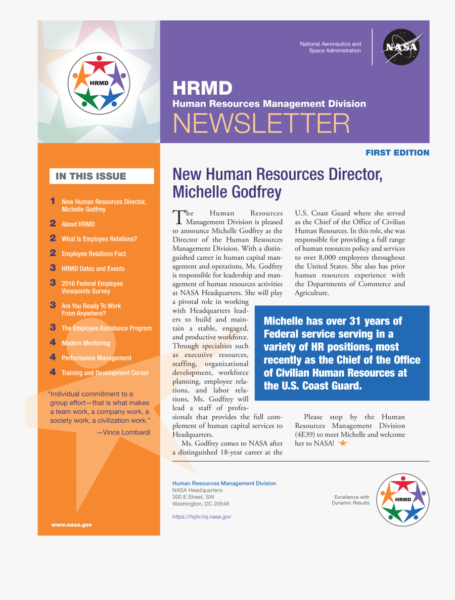 Clip Art Free Monthly Human Resources - Employee Newsletter Examples, Transparent Clipart