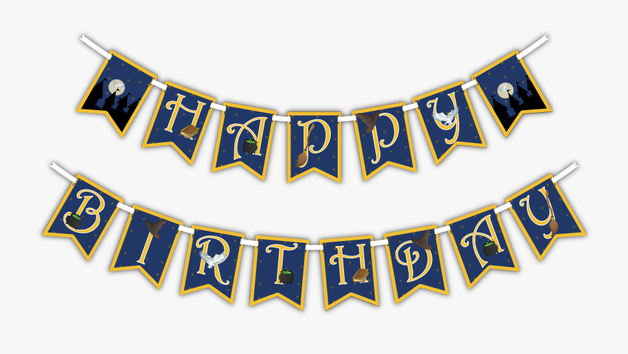 Happy Banner Png - Happy Birthday Banner Png, Transparent Clipart